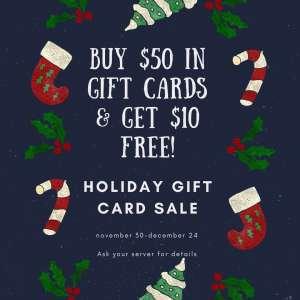 Holiday Gift Card Sale 2019 Brooklyn Boyz